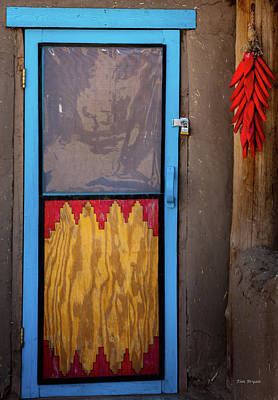 Photograph - Puerta Con Chiles by Tim Bryan