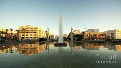 Photograph - Puerta De Tierra Fountain Golden Hour Cadiz Spain by Pablo Avanzini