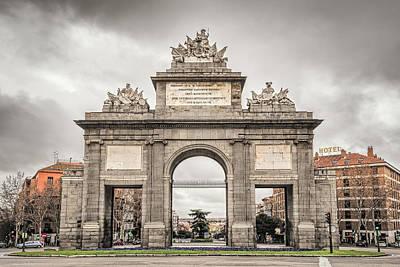 Portal Photograph - Puerta De Toledo Madrid by Joan Carroll