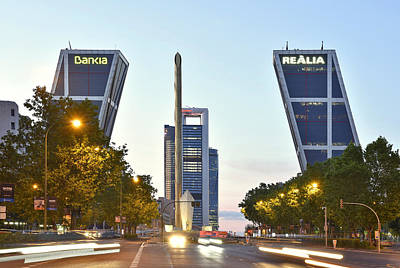 Photograph - Puerta De Europa Madrid Spain by Marek Stepan