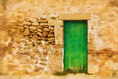 Verde Painting - Puerta Verde by Lutz Baar