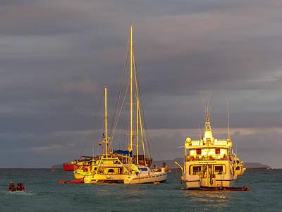 Photograph - Puerto Ayora Sunset by Harry Strharsky