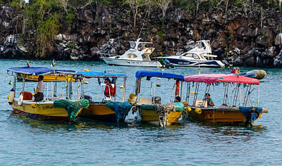 Photograph - Puerto Ayora Water Taxis by Harry Strharsky