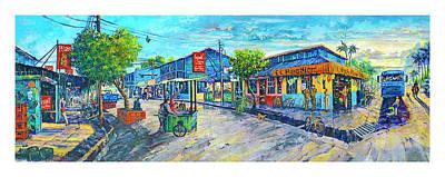 Painting - Puerto Jimenez Town by Michael Cranford