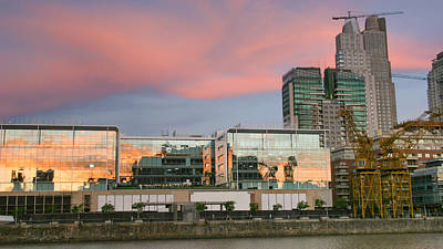 Photograph - Puerto Madero Sunset by Silvia Bruno
