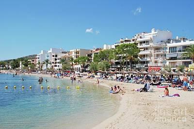 Photograph - Puerto Pollensa Beach On Majorca by David Fowler