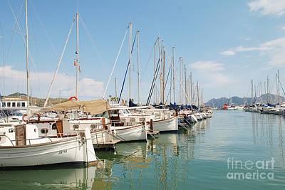 Photograph - Puerto Pollensa Boats In Majorca by David Fowler
