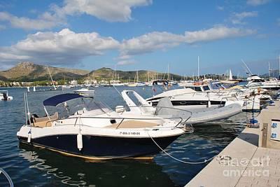 Photograph - Puerto Pollensa Harbour In Majorca by David Fowler