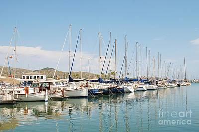 Photograph - Puerto Pollensa Marina On Majorca by David Fowler