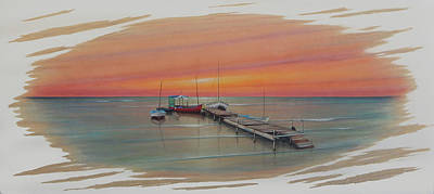 Painting - Puerto Progreso Vl  by Angel Ortiz