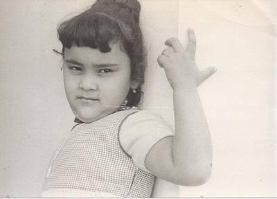 Puerto Rican-american Girl 1964 Art Print