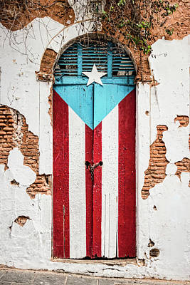 Photograph - Puerto Rican Door by Oscar Gutierrez