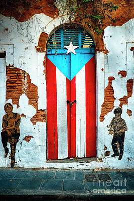 Puerto Rico Photograph - Puerto Rican Flag Door by George Oze