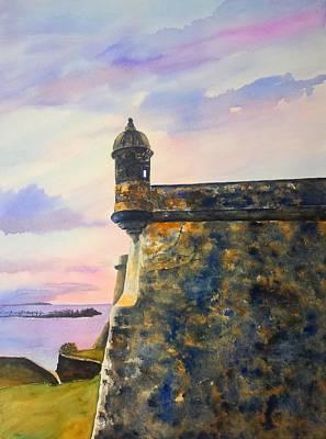 Painting - Puerto Rico Castillo San Felipe Del Morro by Carlin Blahnik CarlinArtWatercolor