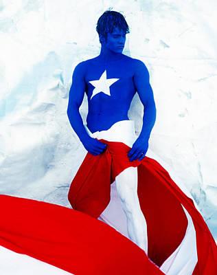 Puerto Rico Flag Art Print by Filippo Ioco