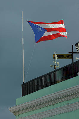 Photograph - Puerto Rico Flag by Herb Paynter