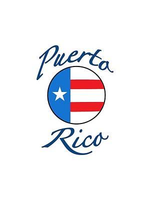 Digital Art - Puerto Rico Logo by Bill Owen