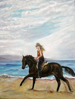 Puerto Vallarta Beach Ride Art Print by Olga Kaczmar