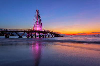 Photograph - Puesta De Sol En La Playa De Los Murtos by Edward Kreis