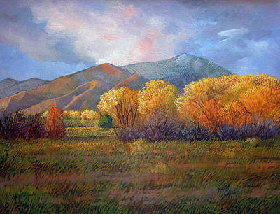 Cottonwood Painting - Puesta Del Sol by Donna Clair