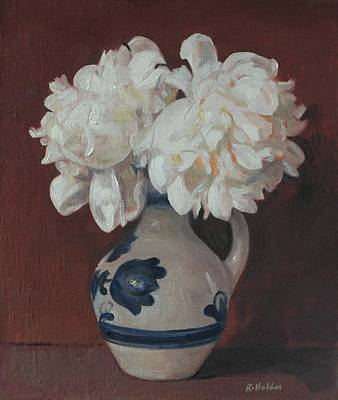 Painting - Puffed Peonies by Robert Holden