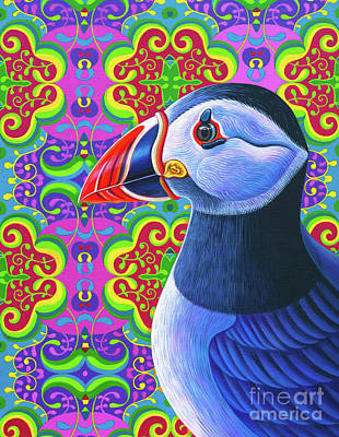 Puffin Wall Art - Painting - Puffin, 2018 by Jane Tattersfield