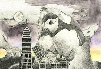 Puffin Destruction Original by Dallas Rowlands