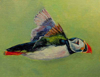Impressionist Nudes Old Masters - Puffin Flight by Dan Twitchell