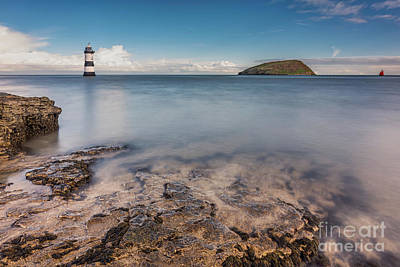 Puffin Photograph - Puffin Island Lighthouse  by Adrian Evans