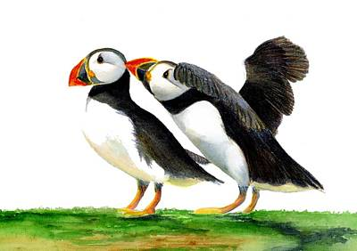 Painting - Puffins by Alison Langridge