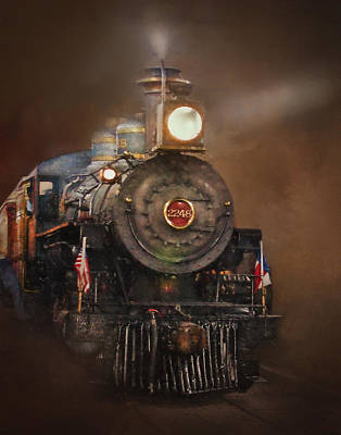Photograph - Puffy 2248 The Steam Locomotive by David and Carol Kelly
