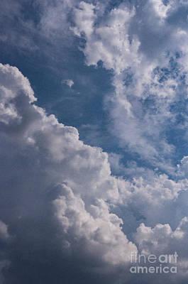Photograph - Puffy Clouds by Debra Fedchin