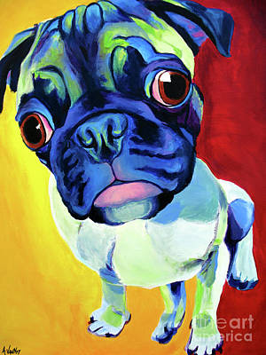 Pug - Lola Print by Alicia VanNoy Call
