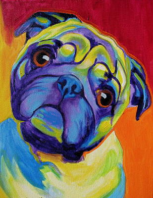 Pug Wall Art - Painting - Pug - Lyle by Alicia VanNoy Call