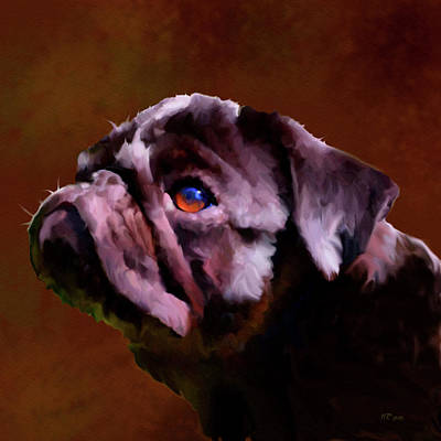 Painting - Pug by Bamalam  Photography