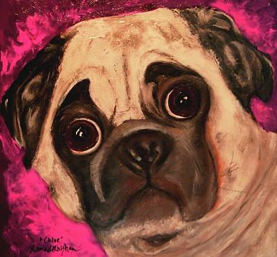 Painting - Pug - Chloe by Laura  Grisham