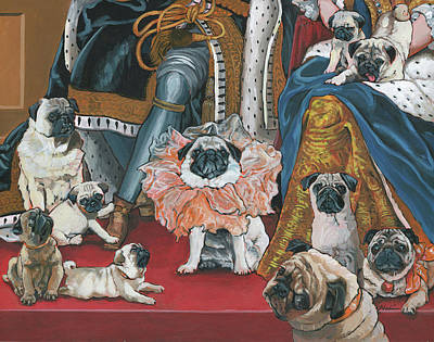 Painting - Pug- Coronation by Nadi Spencer