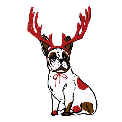Painting - Pug Deer by Saundra Myles
