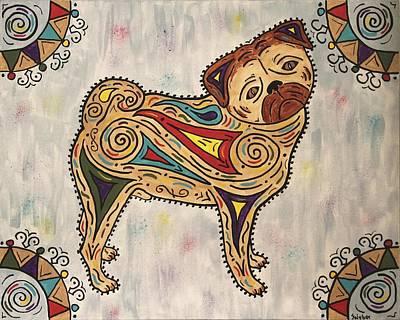 Painting - Pug- Jester Cornelius by Susie WEBER
