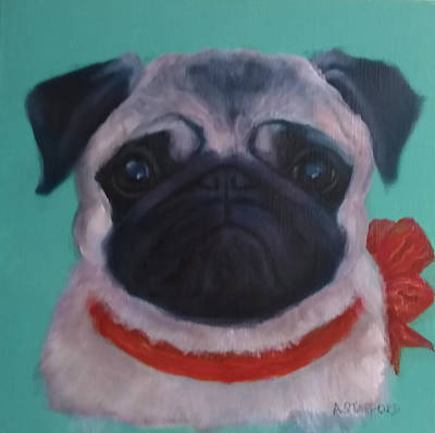 Wall Art - Painting - Pugalicious by Alison Stafford