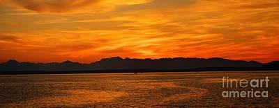 Photograph - Puget Sound Sunset by Frank Larkin
