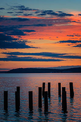 Photograph - Puget Sound Sunset by Jason Butts