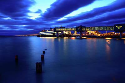 Photograph - Puget Sound Edmonds Sunset by Michael McAuliffe