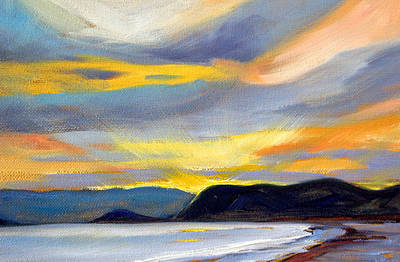 Painting - Puget Sound Sunset by Nancy Merkle