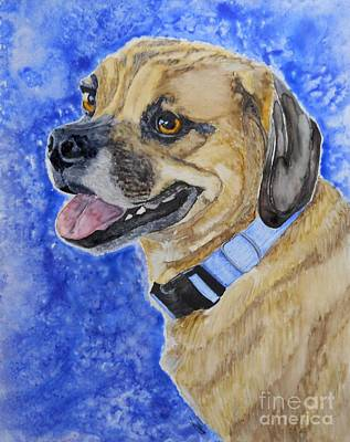 Puggle Painting - Puggle by Tracy Ellis-Maxwell