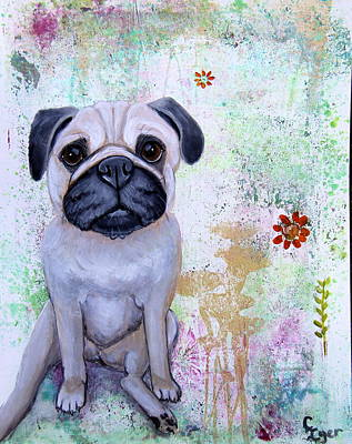 Wall Art - Painting - Puggy Guy by Carol Iyer