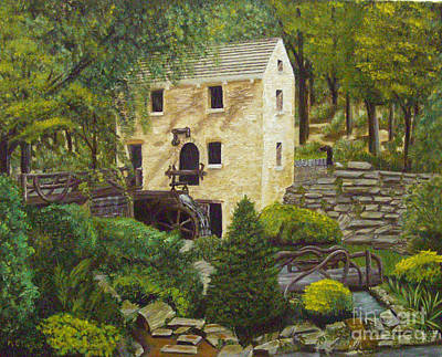 Grist Mill Painting - The Old Mill At T R Pugh Memorial Park by Margie Altmayer - Artist