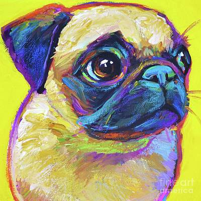 Painting - Pugsly, A Closer Look by Robert Phelps