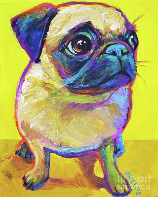 Painting - Pugsly by Robert Phelps