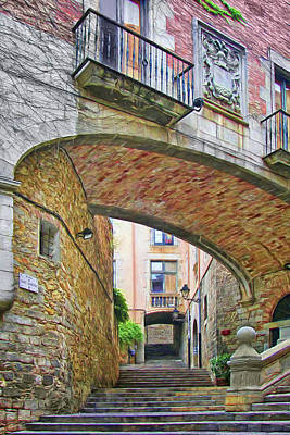Photograph - Pujada De Sant Domenec - Girona by Nikolyn McDonald
